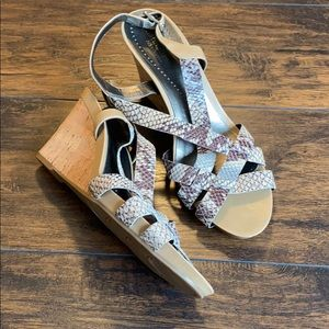 Naturalizer snake print strappy wedge sandals